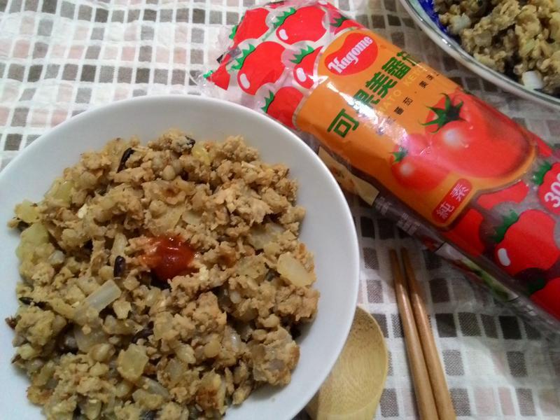 低熱量五穀炒飯_蕃茄醬懶人料理