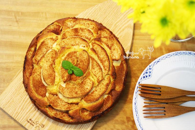 鬆餅粉肉桂蘋果蛋糕~