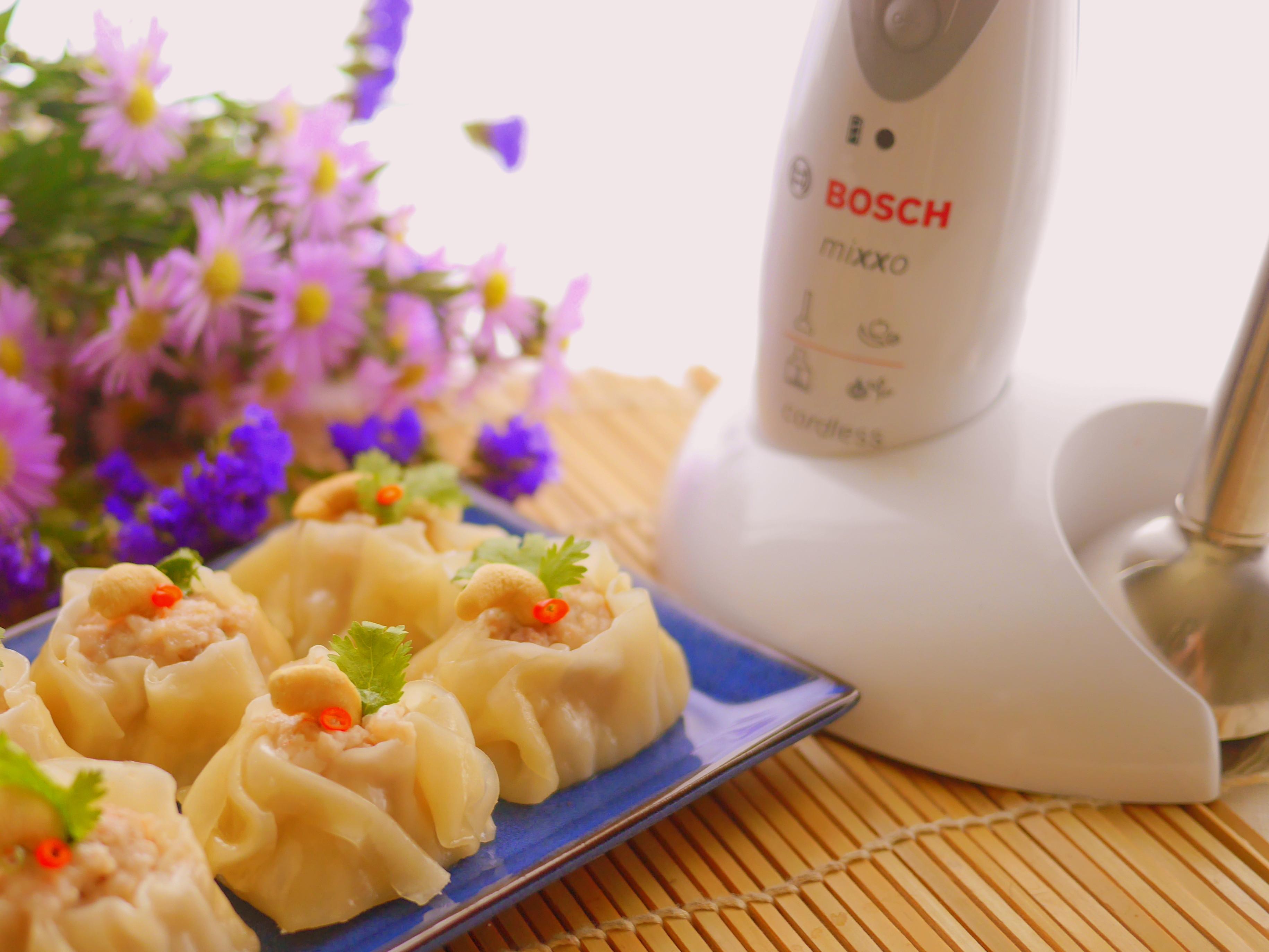 腰果鮮蝦燒賣【Bosch無線調理棒】