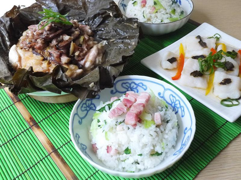一鍋出一桌:富貴雞+上海菜飯+茶香蒸魚片