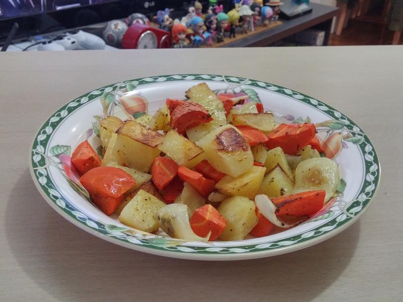 簡單烤薯菜(薯仔、甘荀、洋蔥)