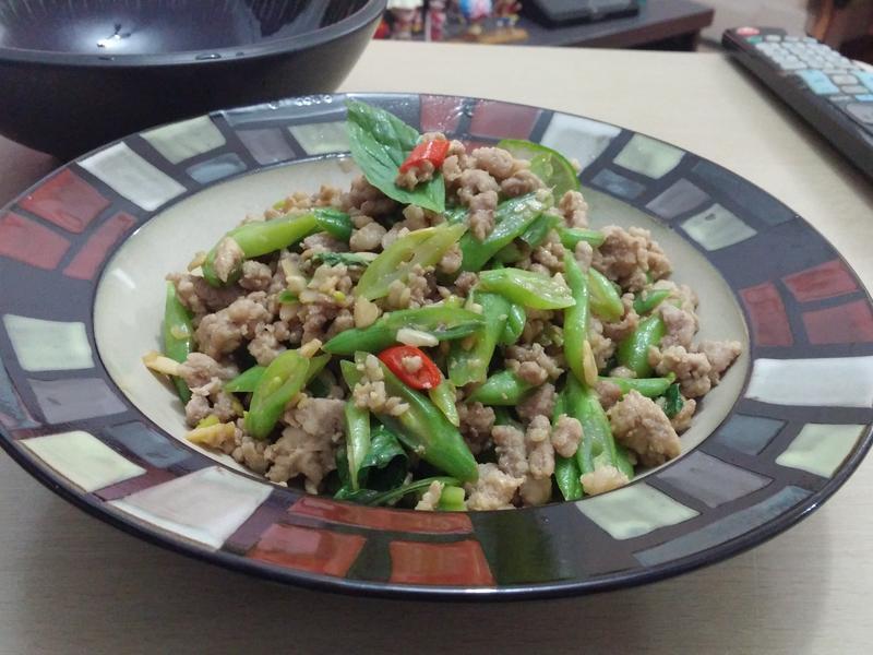 泰式肉碎炒豆角(免油)