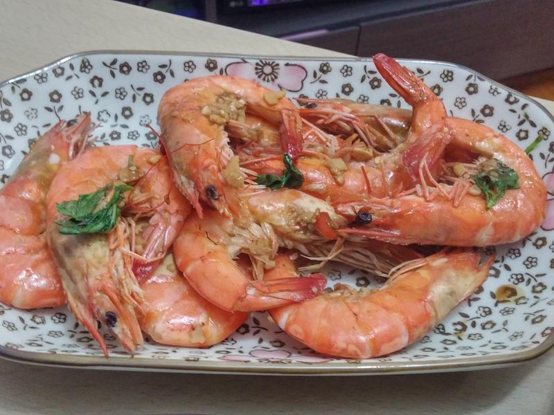 泰式青檸蝦(非常簡單)
