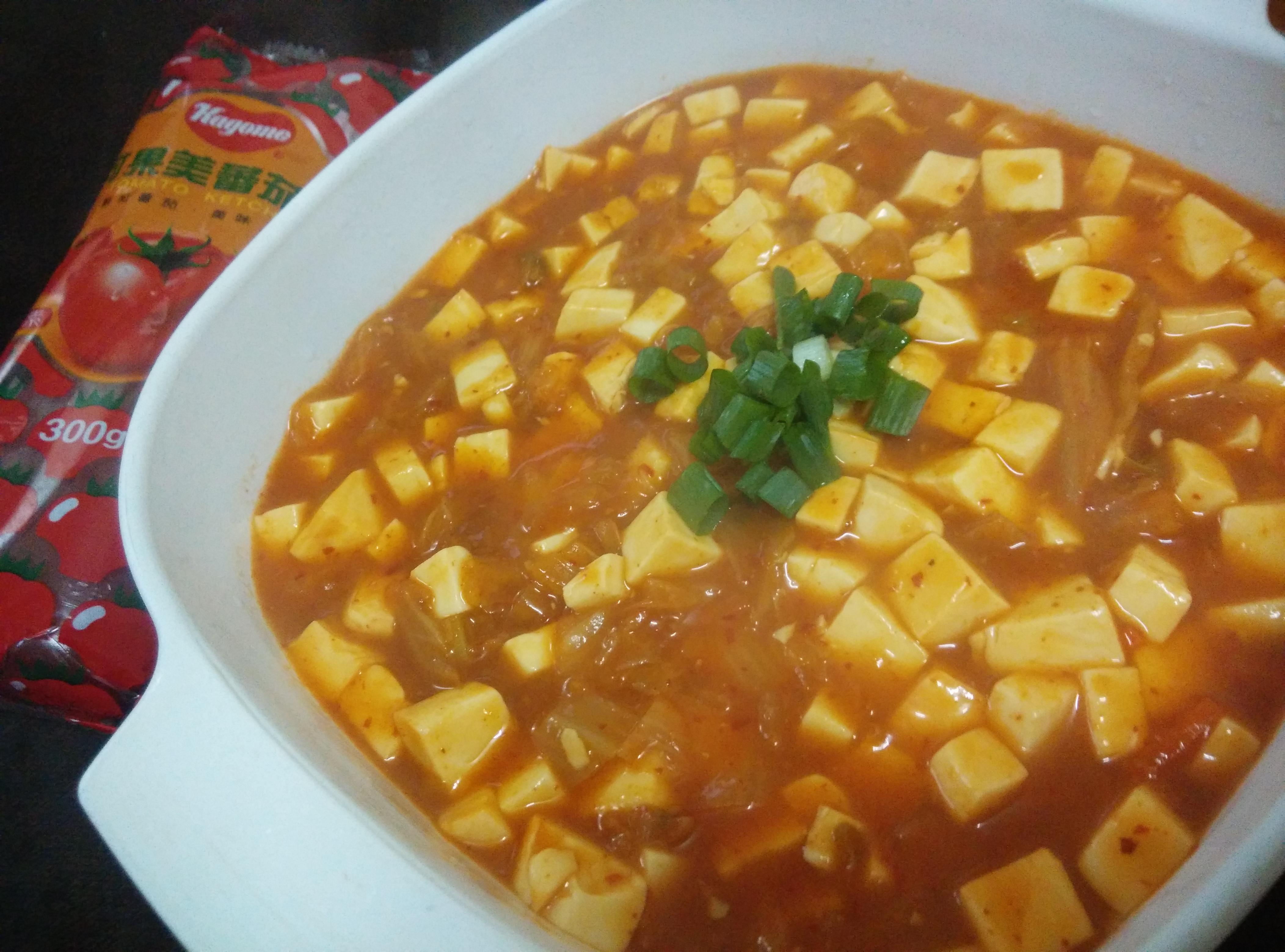 韓式泡菜燴豆腐-蕃茄醬懶人料理