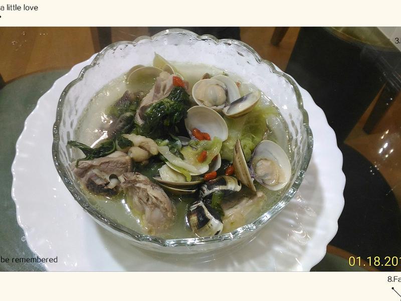蛤蜊刈菜雞湯
