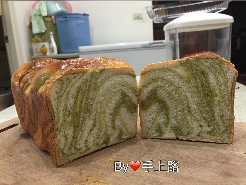 🍵🍞簡單做抹茶大理石土司🍵🍞