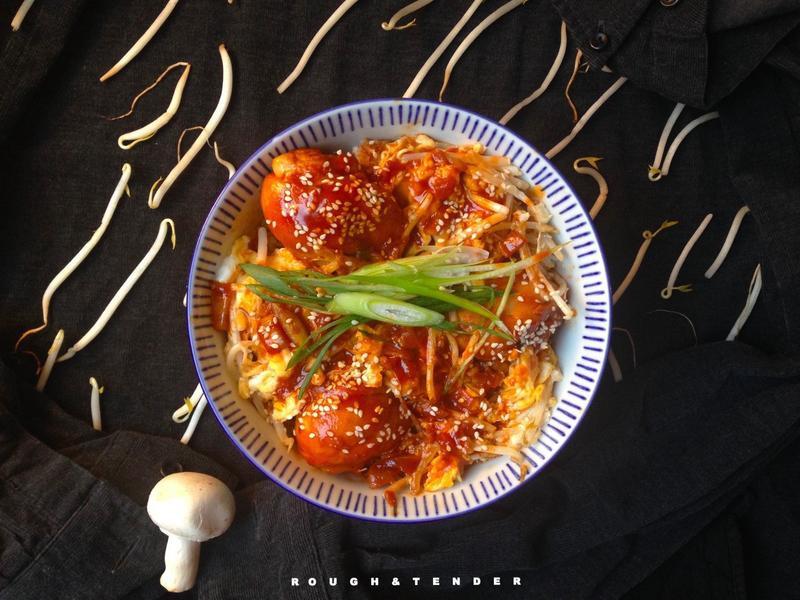 韓式辣雞蓋飯