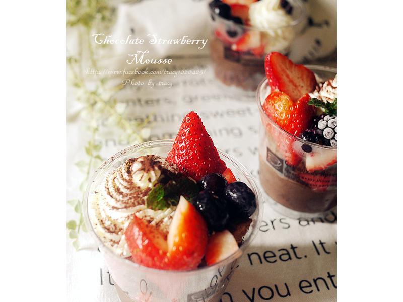 戀愛的感覺-草莓巧克力慕斯杯