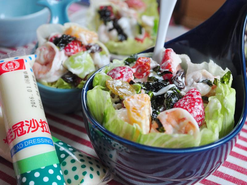 創意年菜-百果齊放海味沙拉