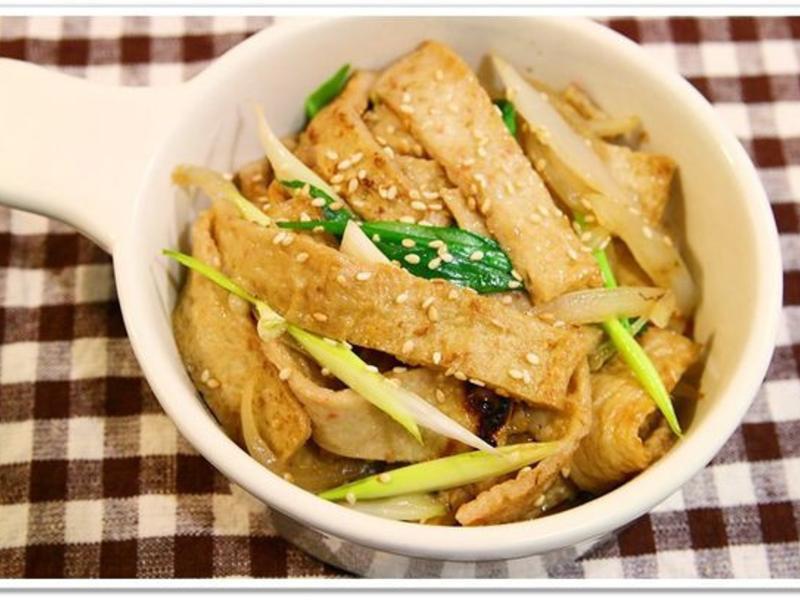韓式炒魚板(甜不辣)