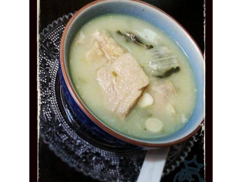 杏汁白菜豬肺湯