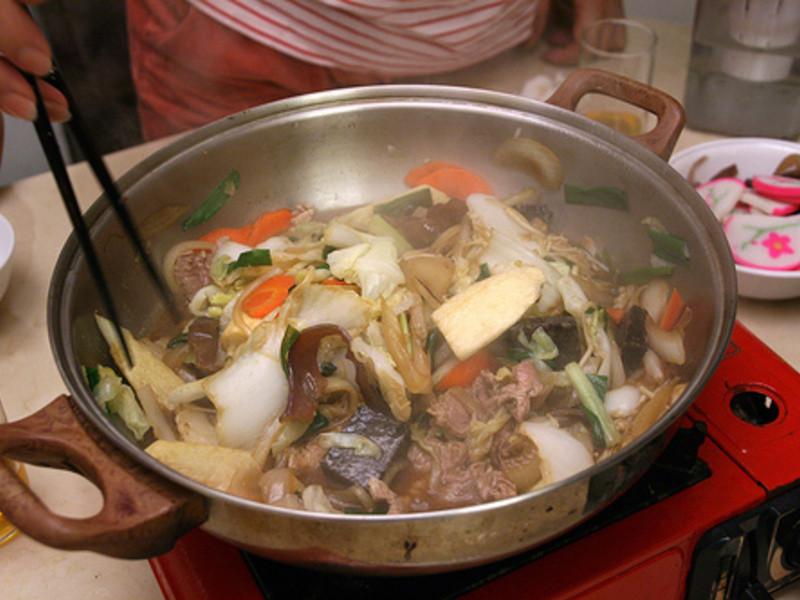 Tenz家中秋傳統美食:壽喜燒