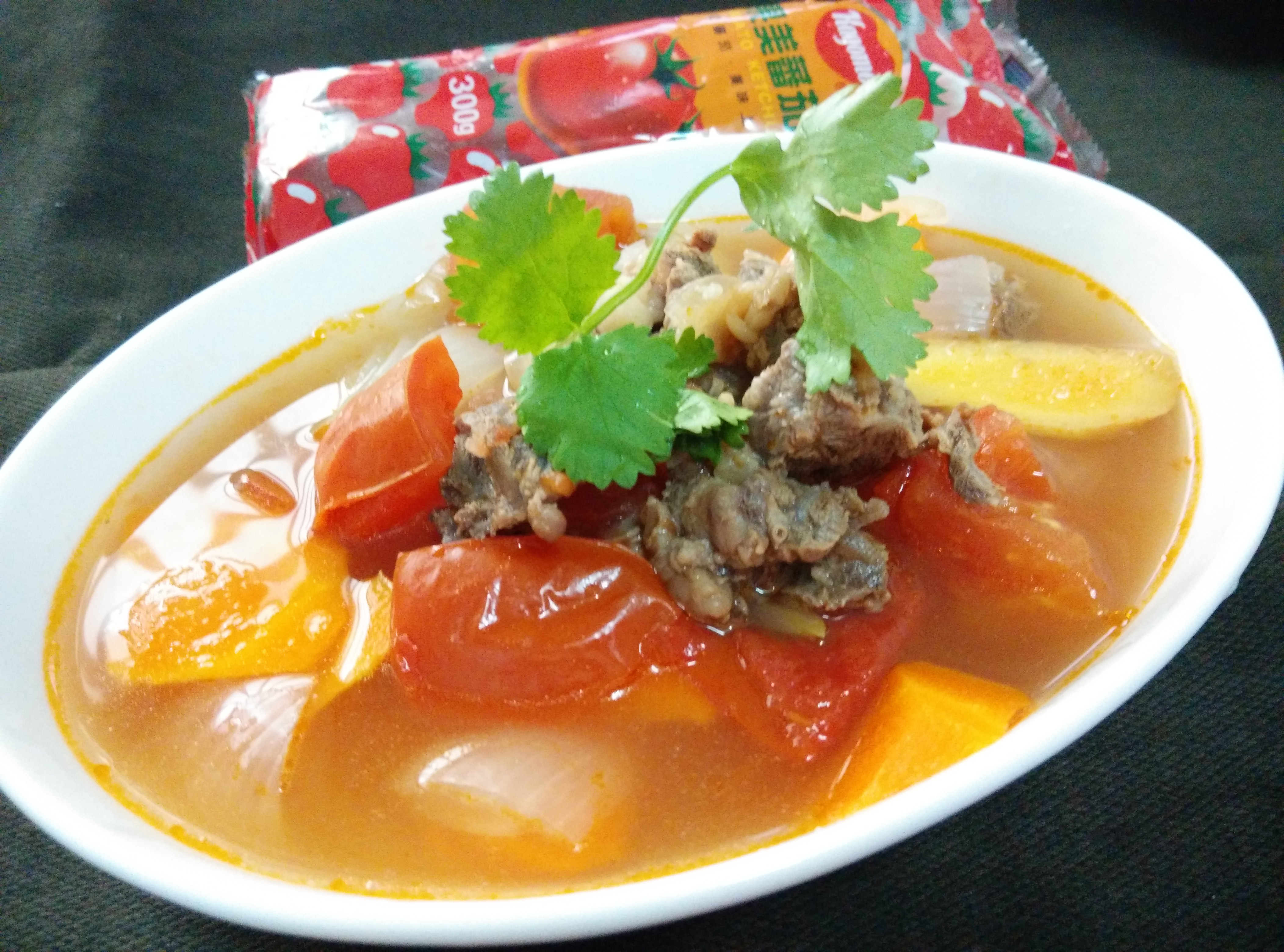 燜燒鍋料理─羅宋湯-蕃茄醬懶人料理