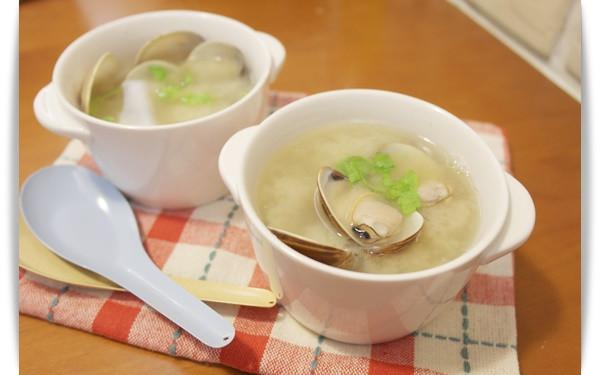 味噌蛤蠣湯!! - 好簡單,清爽好鮮甜!