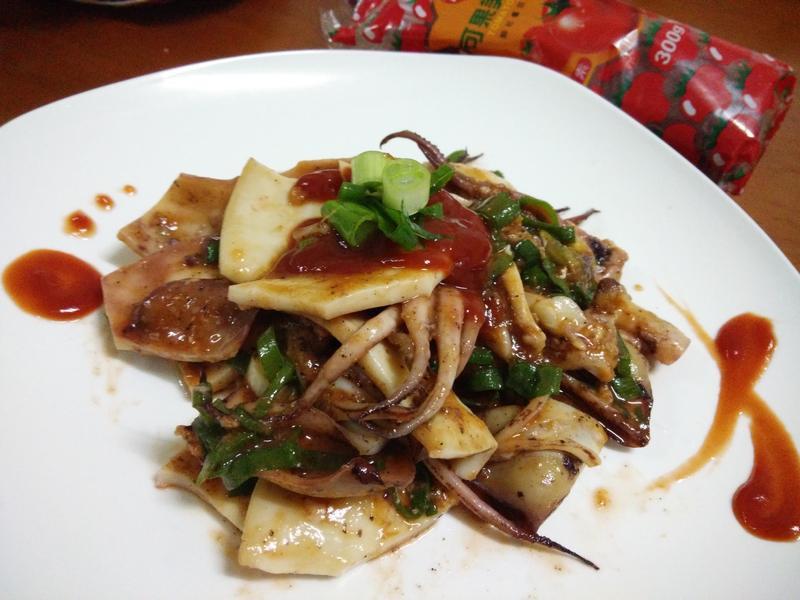 茄香拌魷魚-蕃茄醬懶人料理