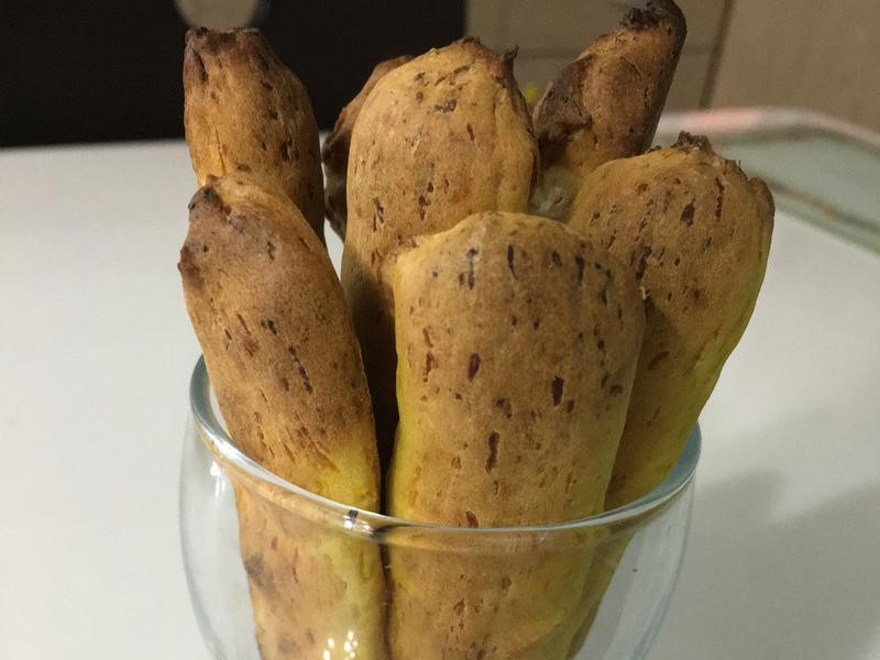 雙寶兒料理👬點心南瓜手指餅乾 1歲以上