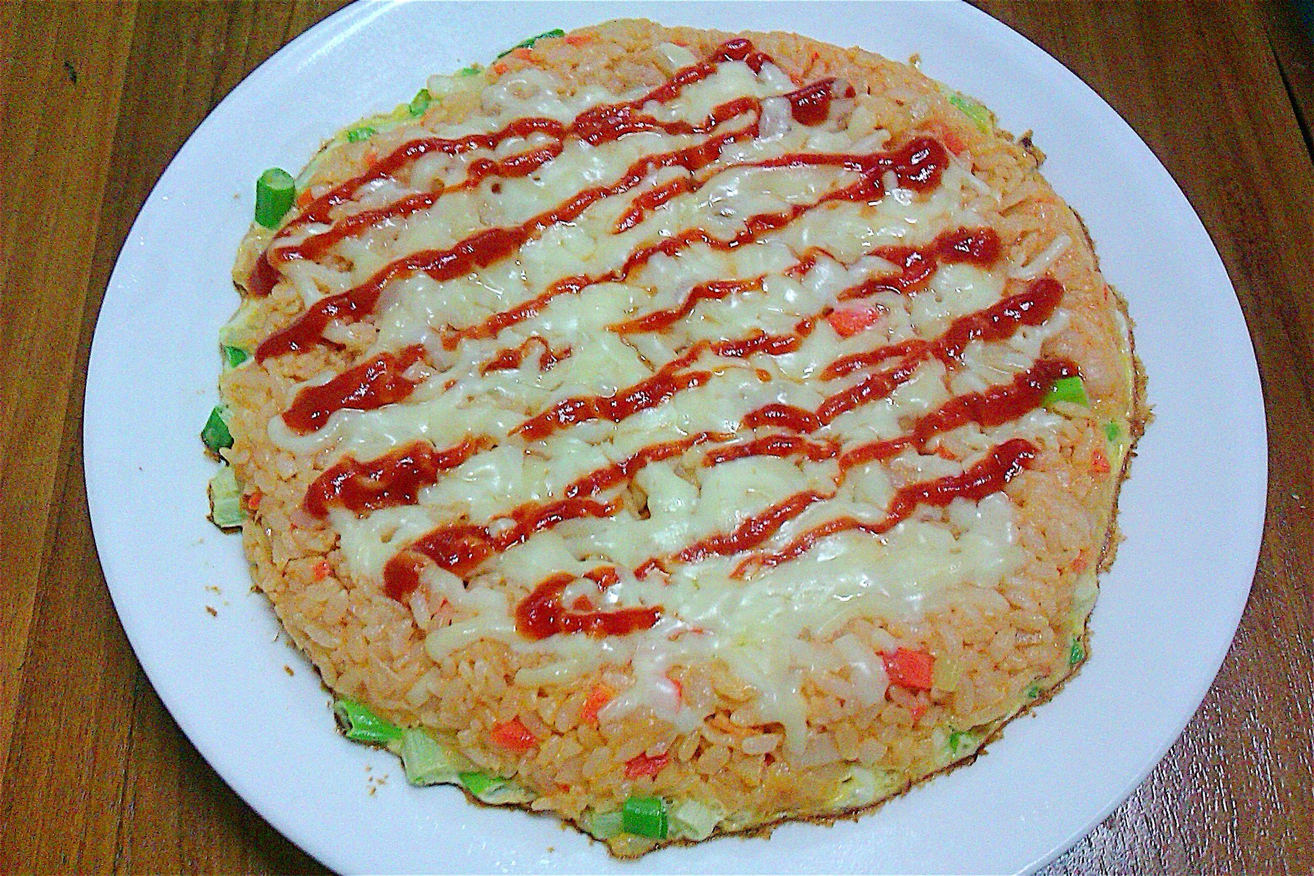 茄汁米披薩【蕃茄醬懶人料理】