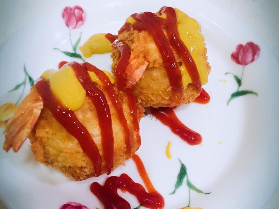 起司薯泥蝦球