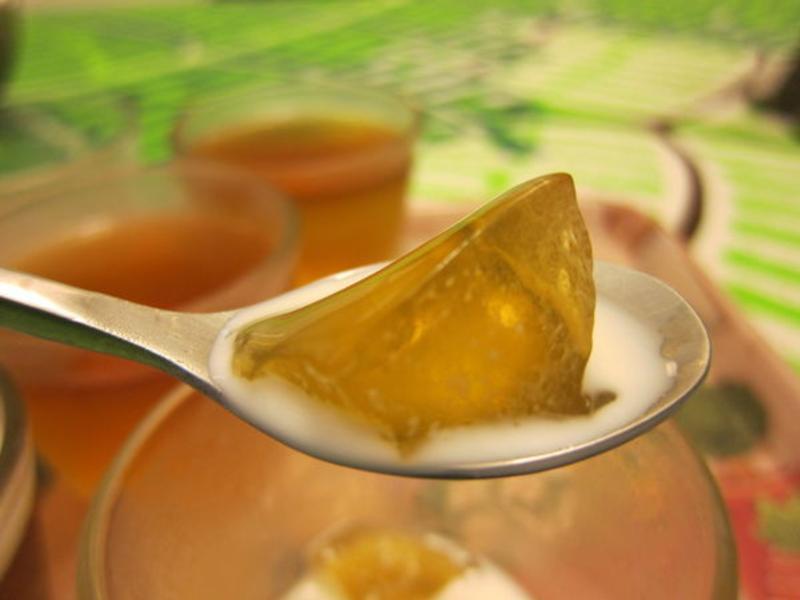 綠茶凍凍果