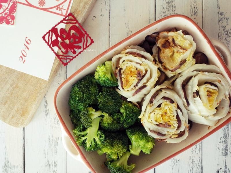 。年菜。燉烤蘑菇白菜