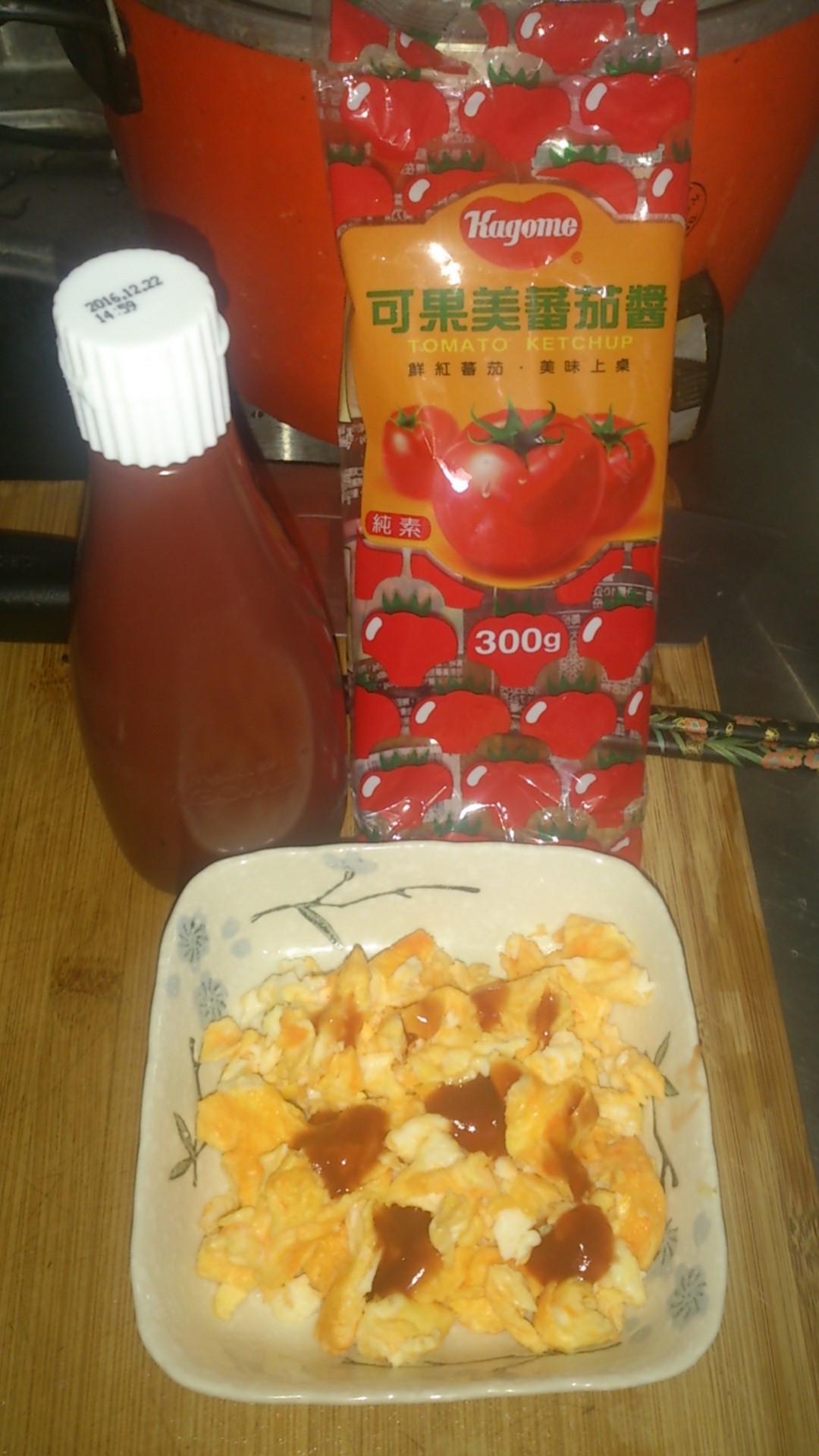 蕃茄炒蛋 蕃茄醬懶人料理