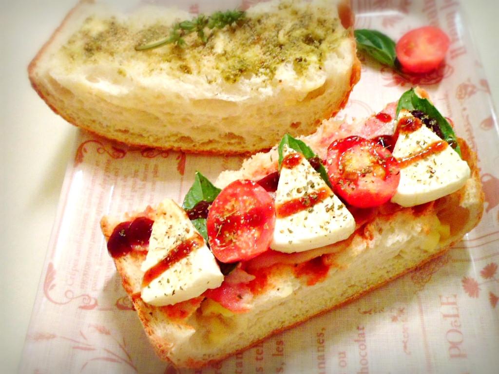 義式番茄培根起司堡