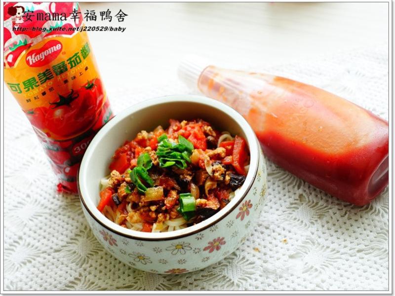 雲南哨子麵~~蕃茄醬懶人料理