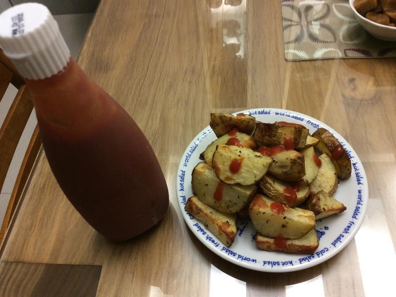 香烤馬鈴薯~蕃茄醬懶人料理