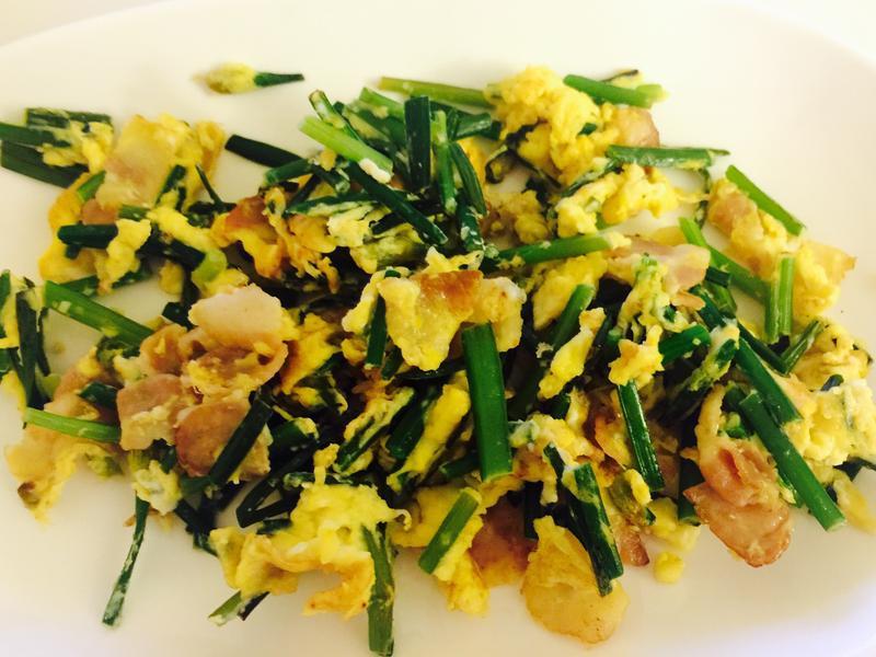 培根韭菜炒雞蛋