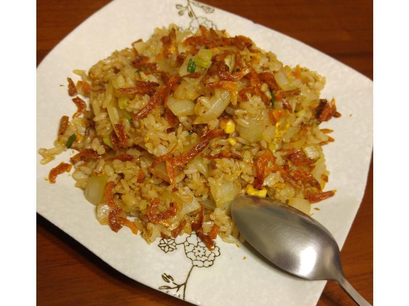櫻花蝦炒飯~10分鐘版