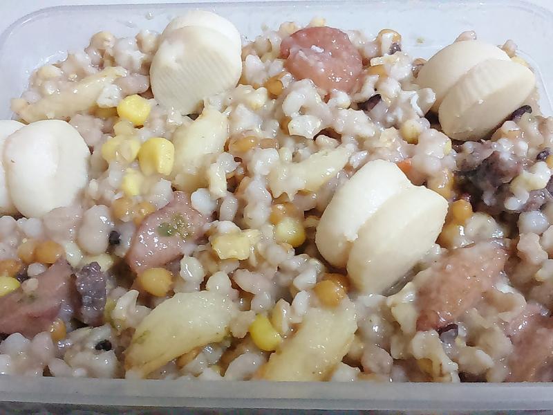 自助尾牙年菜系列~干貝蟹管肉十穀飯