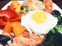 健康蔬食無油鮭魚班尼迪克蛋