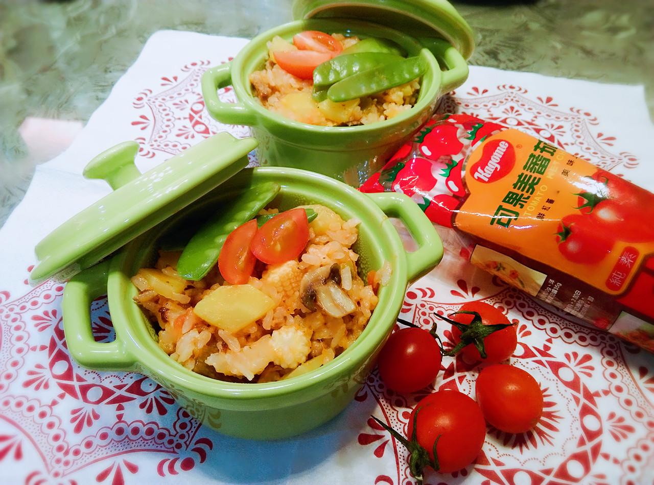 蕃茄什蔬電鍋燉飯【蕃茄懶人料理】