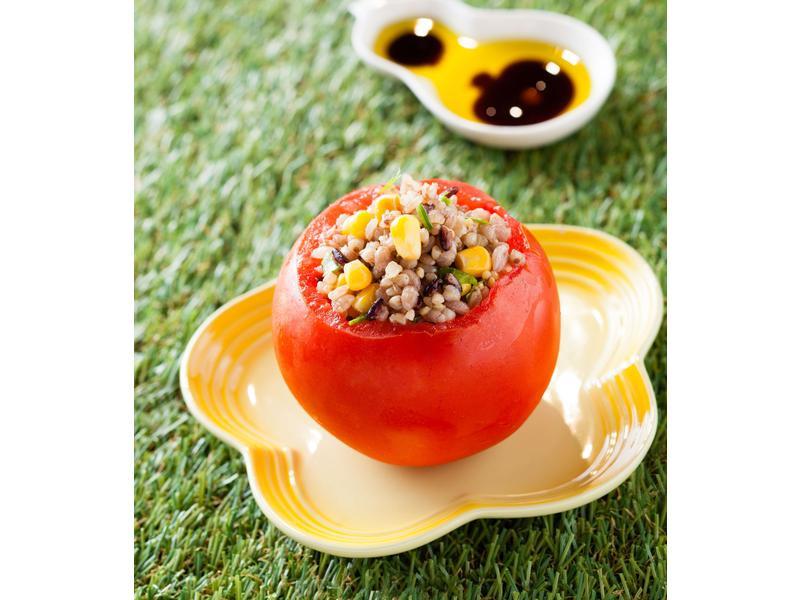 有機五穀米釀番茄