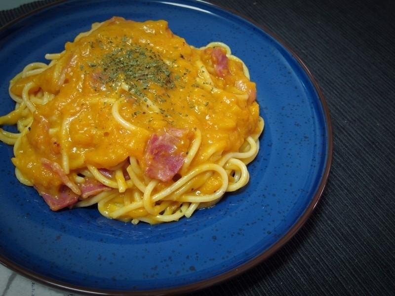 南瓜培根義大利麵