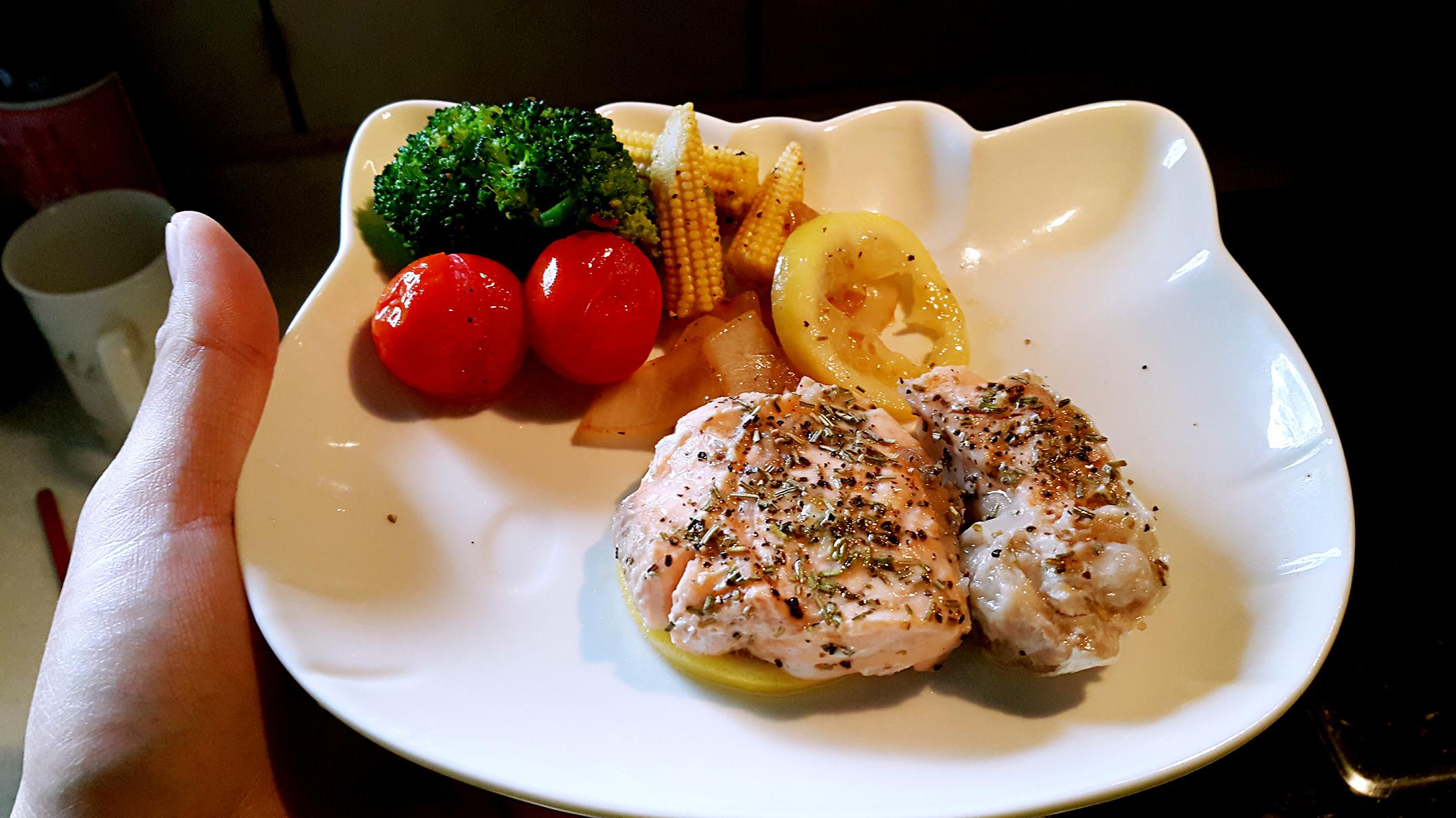 香檸焗烤鮭魚