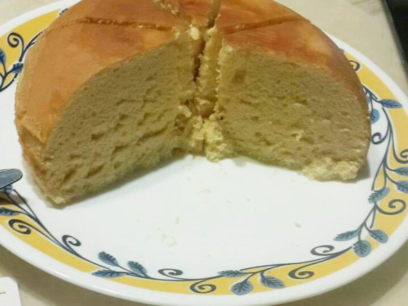 蜂蜜蛋香古早味蛋糕 免烤電鍋篇