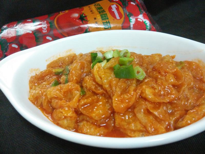 5分鐘上菜─茄香麵筋-蕃茄醬懶人料理