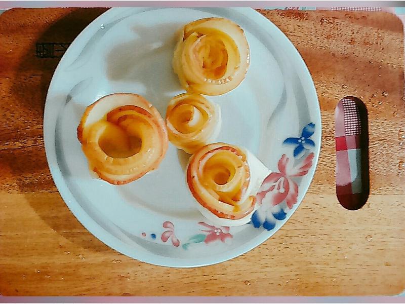 (小烤箱)玫瑰蘋果花🌹