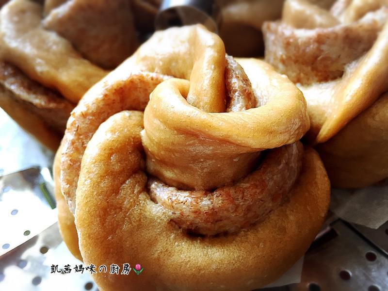 黑糖全麥玫瑰花饅頭🎶