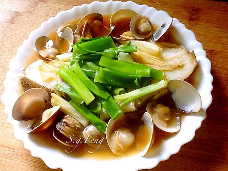 清蒸蛤蠣鱈魚