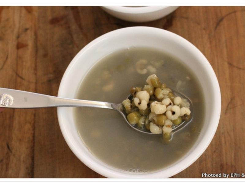 電鍋煮綠豆薏仁湯