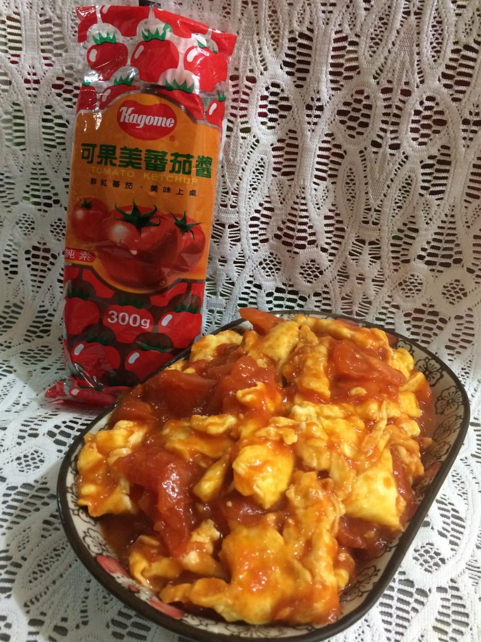 蕃茄炒蛋-【蕃茄醬懶人料理】