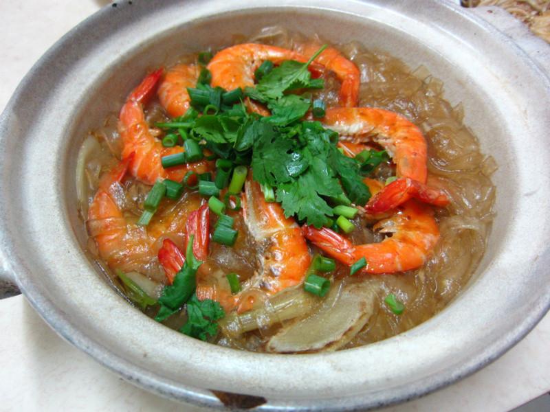 ♥我的手作料理♥ 鮮蝦粉絲煲