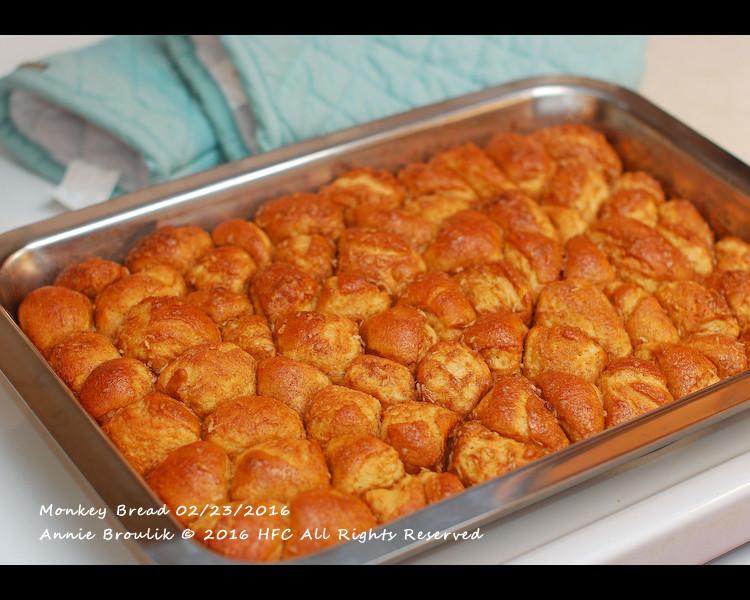 椰香肉桂焦糖猴子麵包*五分鐘手揉麵團