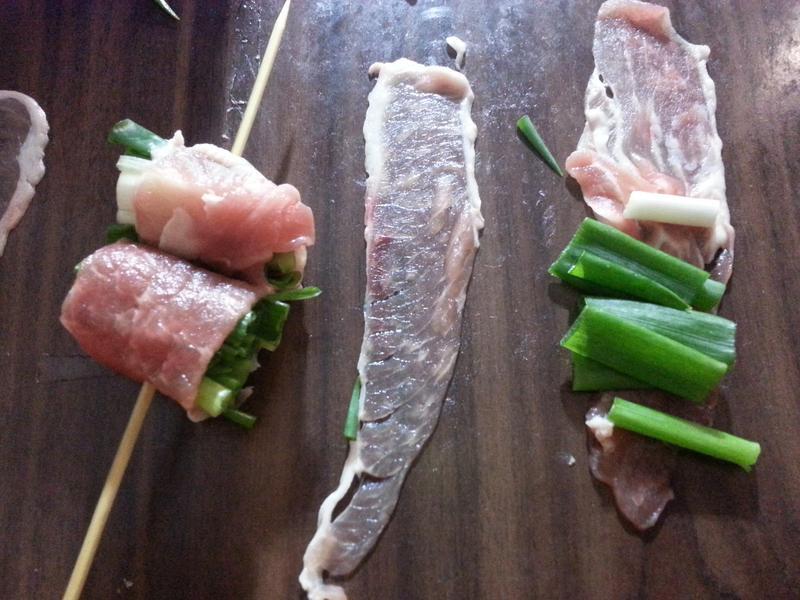 蔥肉捲(串燒, 巴比Q)