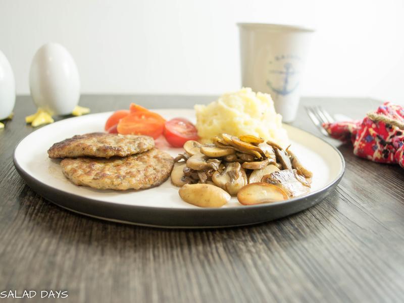 早午餐| 蘑菇馬鈴薯泥漢堡肉