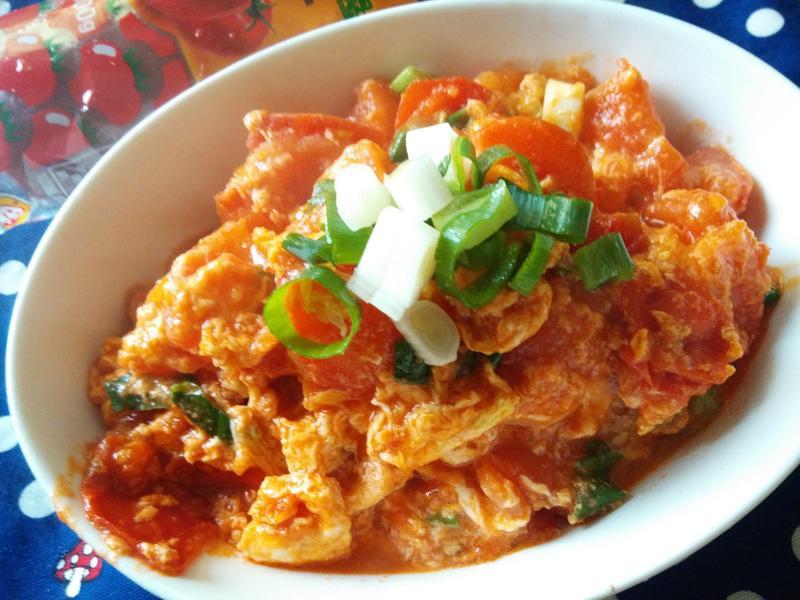 蕃茄炒蛋-蕃茄醬懶人料理