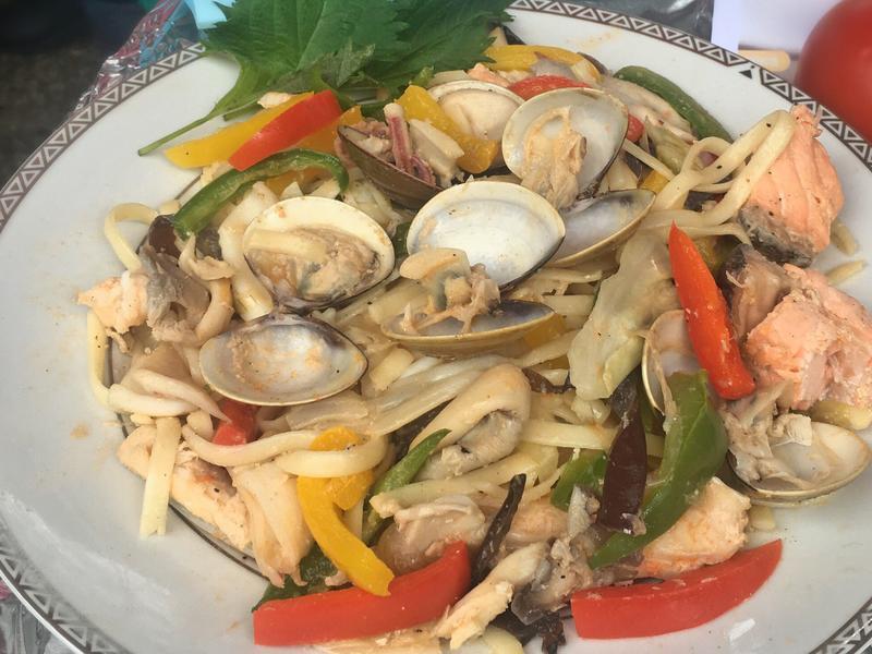 群邑地中海式飲食防失智-炒海鮮細麵