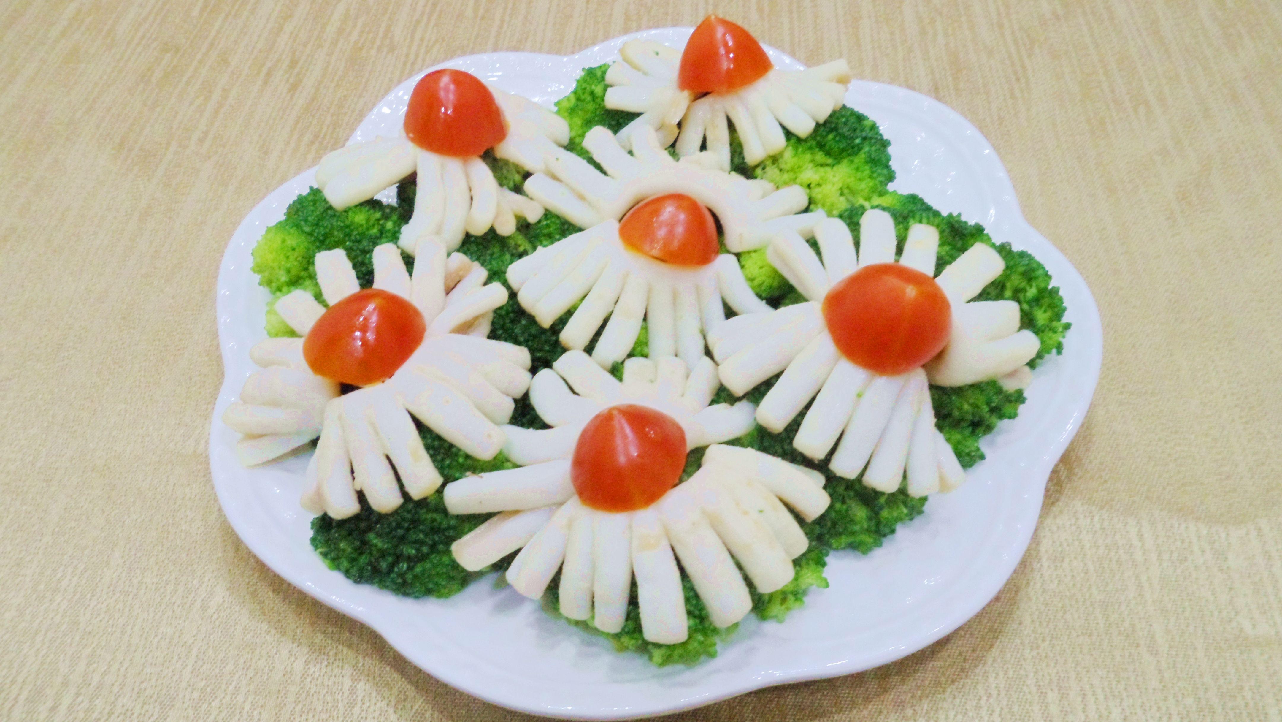 花枝招展佐青花菜
